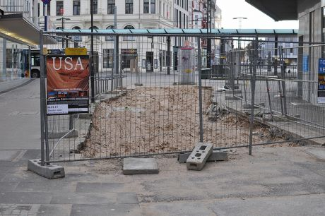 ehemaliger Zugang zur Turmpassage an der Kirchstraße: (Aufnahme vom 13.1.2013)