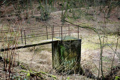 Reste einer Kläranlage am Papiermühler Bach