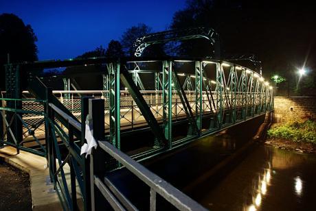 Kohlfurther Bogenbrücke: während der Blauen Stunde