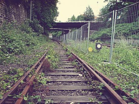 Bahnhalt Solingen Mitte: im Jahre 2004