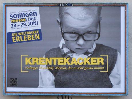 Krentekacker: Solinger Mundart: Mensch, der es sehr genau nimmt