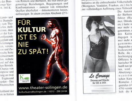 Kulturwerbung: Aus Romerike Berge, Zeitschrift für das Bergische Land