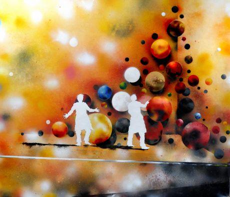 Phenomenon (Palisade): von 2011, 140 x 150 cm, Öl und Lack auf Leinwand - Patrick Lemke