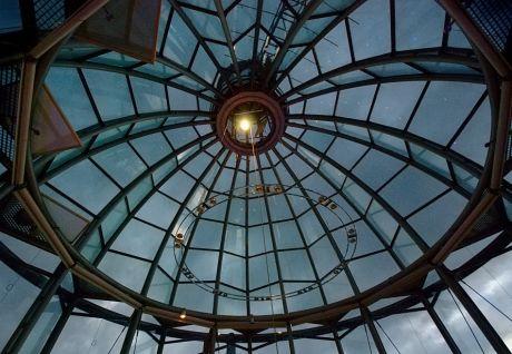 Glaskuppel des Lichtturmes