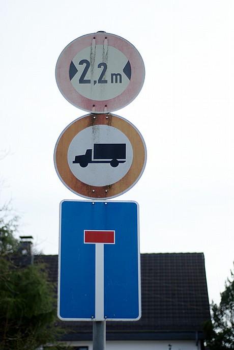 LKW verboten: Pfaffenberg am 5.4.2010