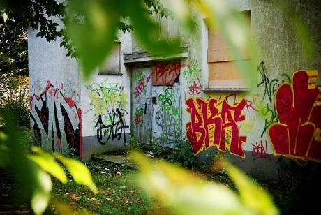 Eingangsbereich: Graffiti-Übungsstelle