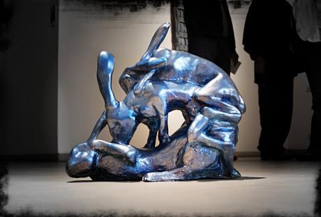 Funny Bones III: 2007, Arystal, Pigment, mixed media von Vera Lossau