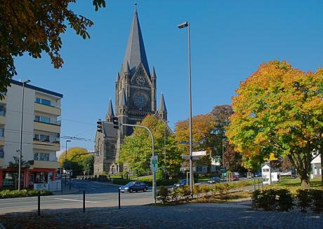 Luther-Kirche: im Herbst 2008