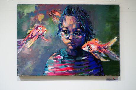 Mädchen mit Goldfischen: Emilia Henriquez Puga