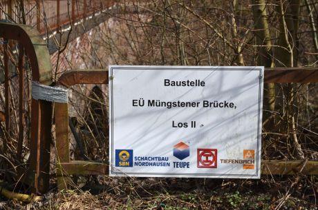 Baustelle EÜ Müngstener Brücke Los II