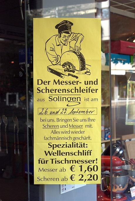 Der Messer- und Scherenschleifer aus Solingen: ist am ... bei uns.