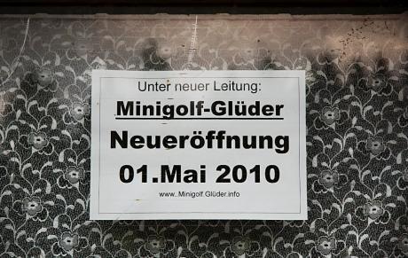 Minigolf Glüder: Neuereröffnung