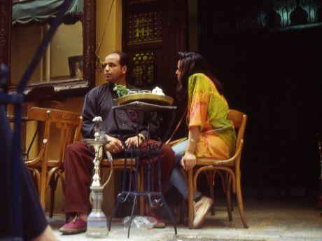 Master an der Wasserpfeife: (Kairo, Basar, 1995)