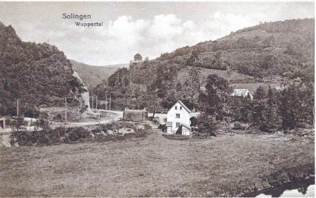 Bahnhof Müngsten: (Verlag unbekannt, Aufnahme vermutlich um 1917)