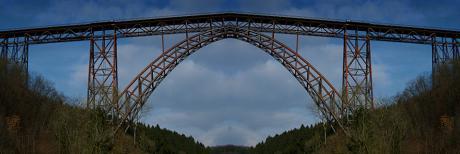 gesperrte Müngstener Brücke