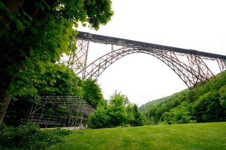 Müngstener Brücke mit Gerüsttunnel
