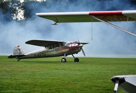 D-EFTH im Nebel: Cessna 195B aus dem Jahre 1953