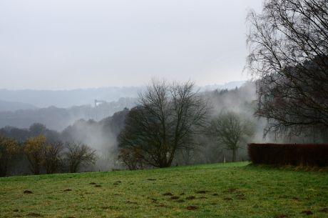 Der Nebel erklimmt die Höhe