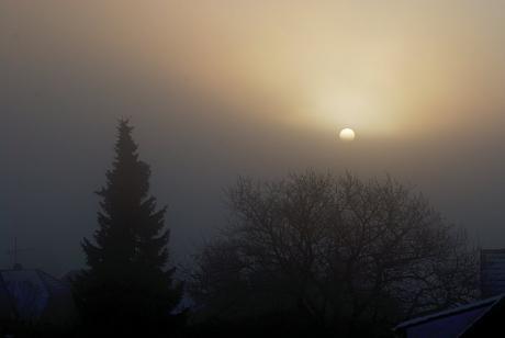 Nebel inklusive Sonne