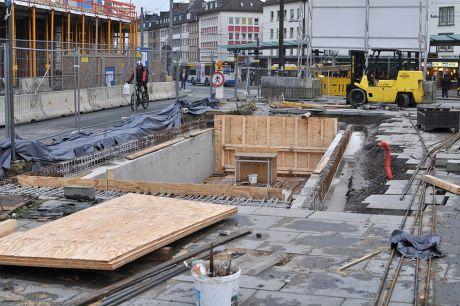 Neuer Zugang zur ehemaligen Turmpassage: an der Bergstraße (Foto: 24.11.2012)
