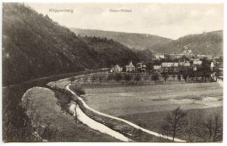 Klippenberg :: Oben-Rüden: Postkarte, ohne Verlagsangaben, gelaufen im Jahre 1910.