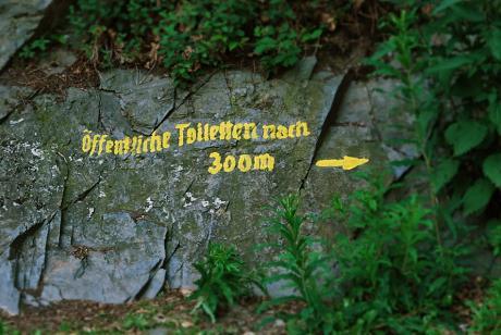 Öffentliche Toiletten nach: 300 m