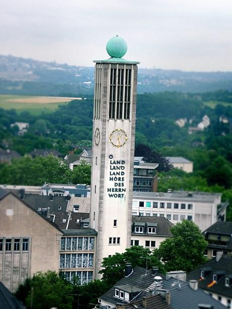 Stadtkirche, sturmgeschädigt: (Originalfoto Möni Quarch)