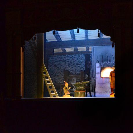 Haases Papiertheater aus Remscheid: im Balkhauser Kotten