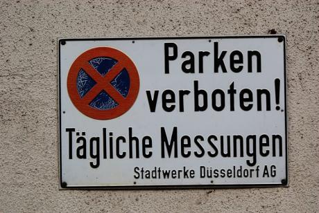 Parken verboten: Tägliche Messungen