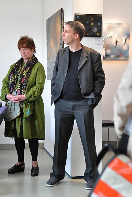 Patrick Lemke: bei der Vernissage in der Galerie Gecko