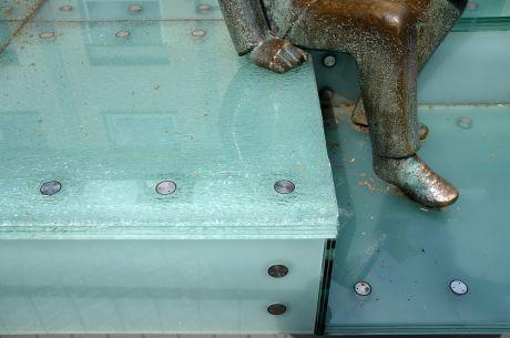 defekte Glasplatten