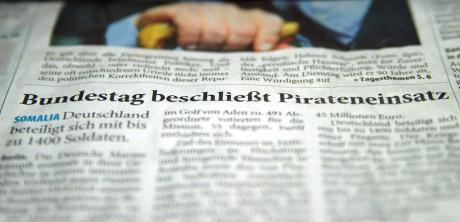 Pirateneinsatz: Schlachtzeile im Solinger Intelligenzblatt, 20.12.2008