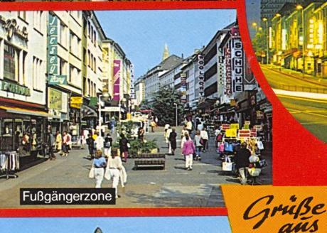 """Ausschnitt aus einer Postkarte """"Grüße aus Solingen"""": Verlag Schöning&Co, gelaufen 19xx"""