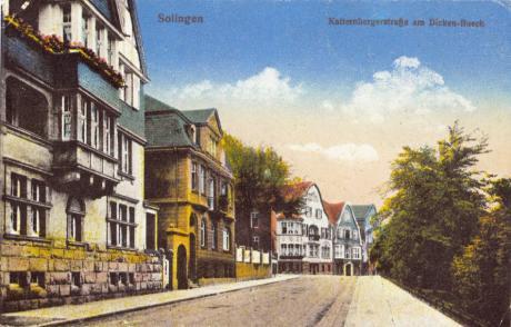Katternbergerstraße am Dickenbusch: um die Jahrhundertwende (1900)