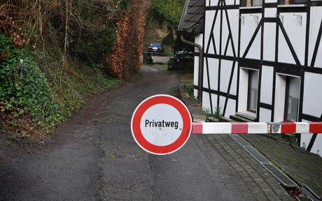 Der Privatweg!