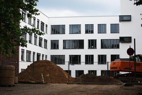 Solinger Rathaus: 2008 während der Bauphase