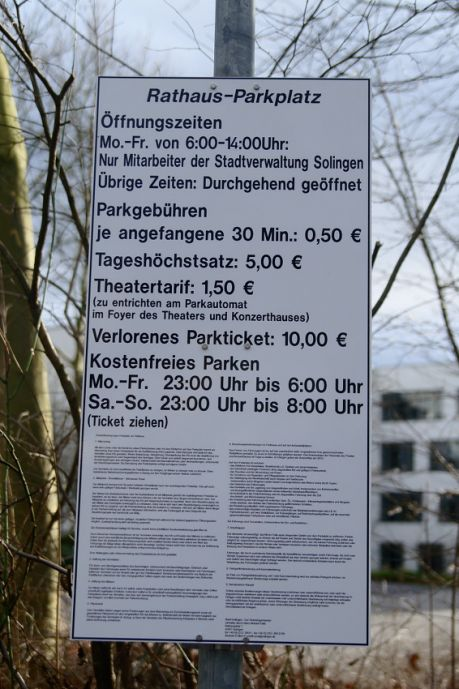 Rathaus-Parkplatz