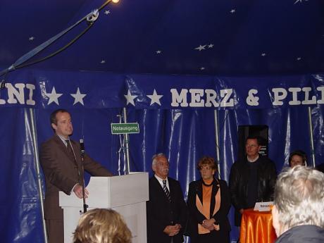 Reden zum Brückenzauber 2006: Die Oberhäupter der Städte bei der Eröffnung 2006