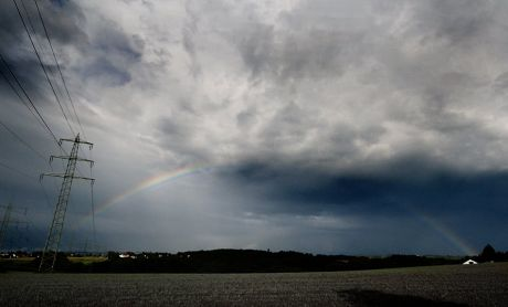 Regenbogen über dem Dorperhof