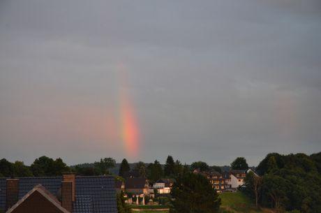 Regenbogen über dem Berg der Pfaffen