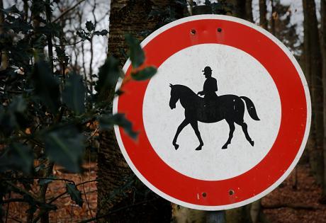 Verbot für Reiter: Gibt es dieses Schild überhaupt in einer offiziellen Version?