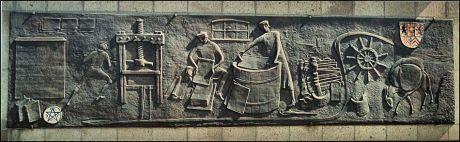 Bronze-Relief von Lies Ketterer