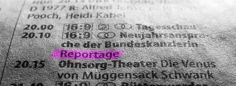 Neujahrsansprache: der Bundeskanzlerin um 20:10 Uhr (Quelle: ST vom 31.12.2008)