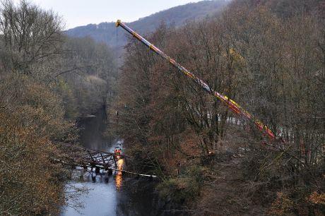 die RME-Brücke in der Wupper
