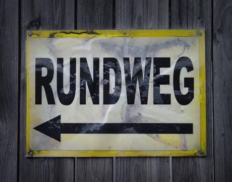 Rundweg: Schild