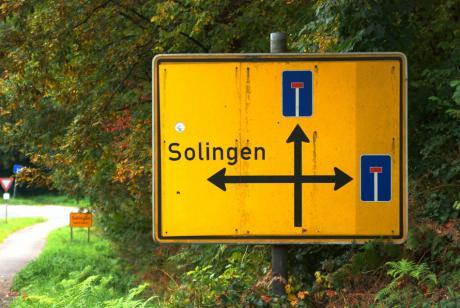 Sackgasse: Herzlich Willkommen in Solingen