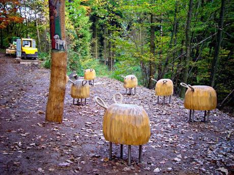 Schafsherde: abhandig gekommen  (Foto Oktober 2004)