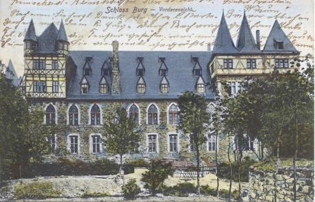 Schloss Burg: Verlag Ed. Erichsen, Elberfeld - gelaufen 1904