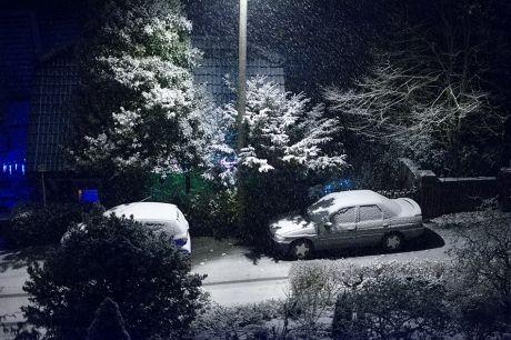 erster Schneefall zum Jahresende 2012