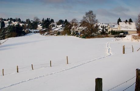 Spur im Schnee: nicht vom Weihnachtsmann
